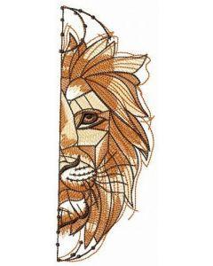 Animal king embroidery design