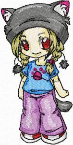 Anime 3 embroidery design