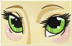 Anime eyes embroidery design