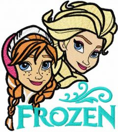 Frozen sisters 4 embroidery design