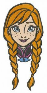 Anna face embroidery design