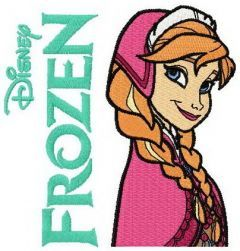 Anna Frozen 2 embroidery design