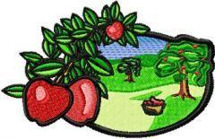Apple Garden embroidery design