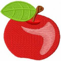 Apple 5 embroidery design