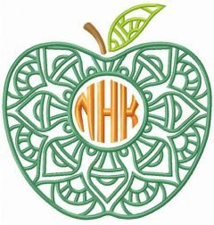 Apple NHK embroidery design