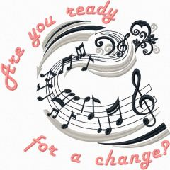 Are you ready for change embroidery design