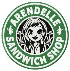 Arendelle sandwich shop machine embroidery design