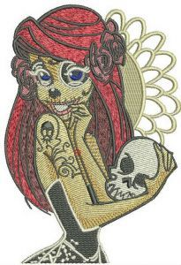 Ariel monster embroidery design