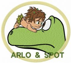 Arlo and Spot embroidery design 3