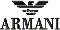 Armani Logo embroidery design