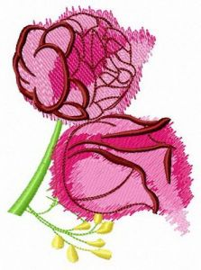 Aroma of roses embroidery design