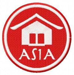 Asia badge embroidery design