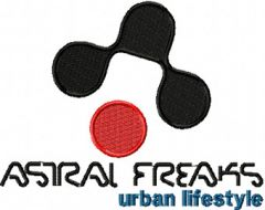 Astral Freaks Logo embroidery design