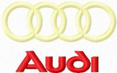 AUDI Logo embroidery design