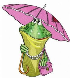 Aunt Frog embroidery design
