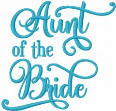 Aunt of the bride embroidery design