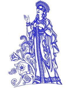 Aurora embroidery design