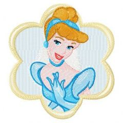 Cinderella embroidery design