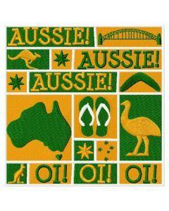 Aussie embroidery design