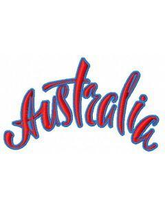 Australia 2 embroidery design