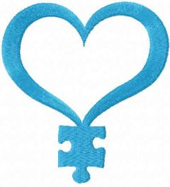 Autism Awareness 2 embroidery design