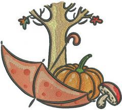 Autumn 3 embroidery design