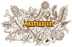 Autumn 4 embroidery design
