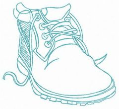 Autumn boot embroidery design