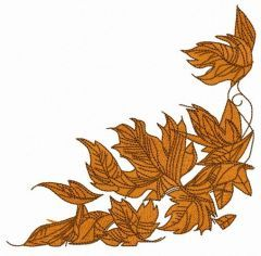 Autumn-fall embroidery design