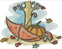 Autumn embroidery design