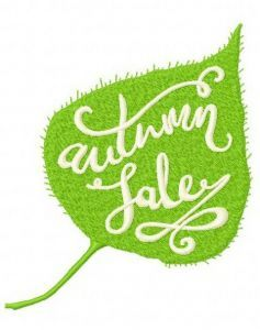 Autumn sale 2 embroidery design