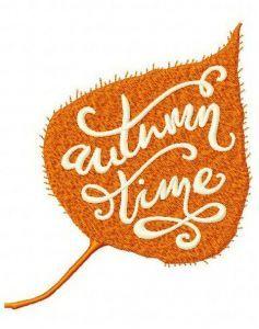 Autumn sale embroidery design