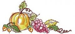 Autumn still life embroidery design