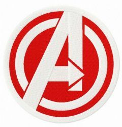 Avengers bright logo embroidery design