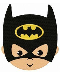 Baby Batman face embroidery design