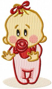 Baby began to walk embroidery design