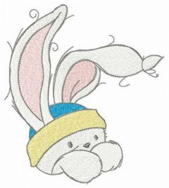 Baby bunny 5 embroidery design