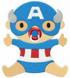 Baby Captain America embroidery design