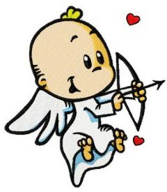 Baby cupid 3 embroidery design