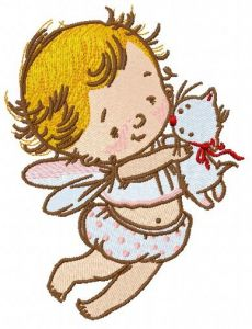 Baby cupid 6 embroidery design