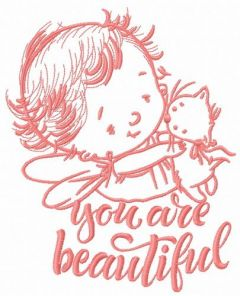Baby cupid 9 embroidery design
