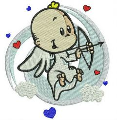 Baby cupid embroidery design