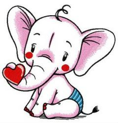 Baby elephant 2 embroidery design