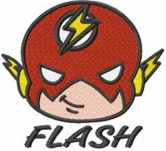 Baby Flash head embroidery design