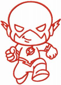 Baby flash one colored embroidery design