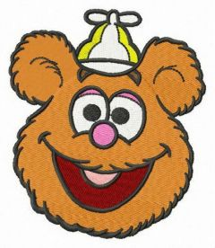 Baby Fozzie head embroidery design