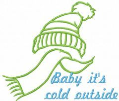 Baby It's Cold Outside 2 embroidery design