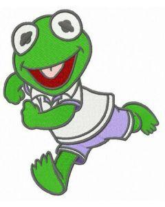 Baby Kermit embroidery design