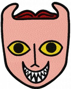 Baby lock mask embroidery design