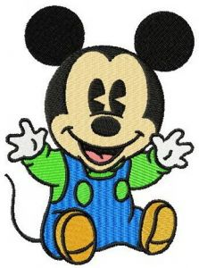 Baby Mickey Mouse embroidery design